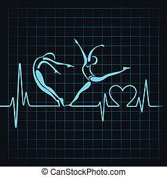 heartbeat make a yoga girl heart