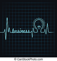 heartbeat make business word & bulb