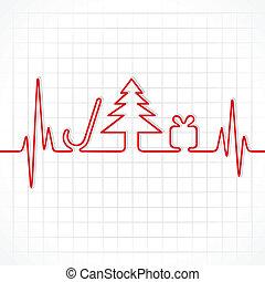 heartbeat make christmas symbols