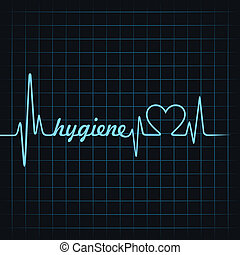 Heartbeat make hygiene word