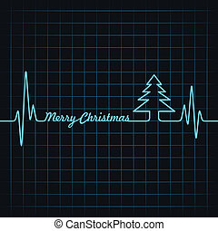 Heartbeat make Merry Christmas text