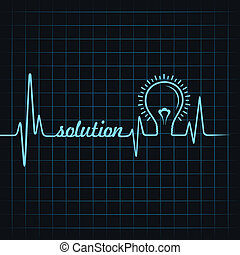 heartbeat make solution word & bulb
