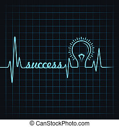 heartbeat make success word & bulb