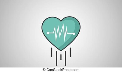 Heartbeat medical symbol HD definition