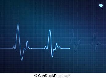 Heartbeat Monitor - Medical heartbeat monitor...