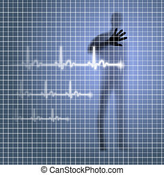 Heartbeat - Mysterious medical background with human...