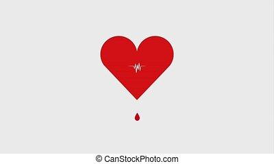 heartbeat pulse cardiology drop blood healthcare ilustration