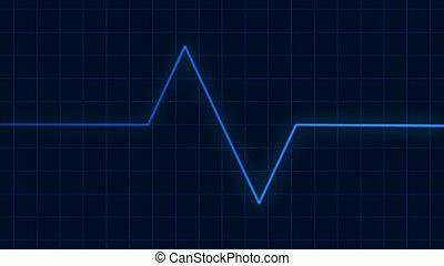 Heartbeat pulse on cardiogram screen, EKG ECG cardio healthcare concept