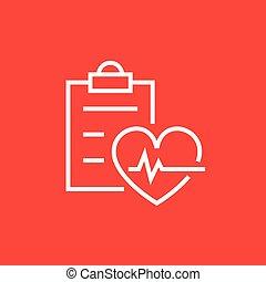 Heartbeat record line icon.