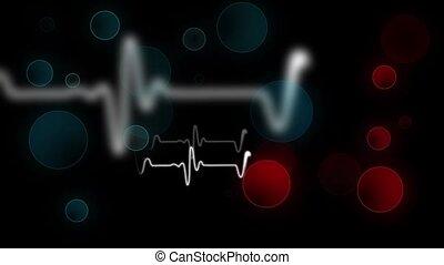 Heartbeat sign with bokeh backgroun