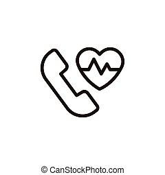 heartbeat thin line icon