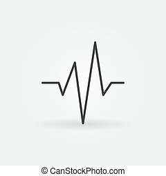 Heartbeat vector simple concept icon in thin line style