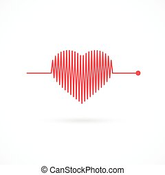 Heartbeat with Heart Shape