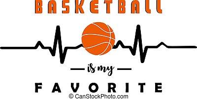 Heartbeath baskeball.Vector