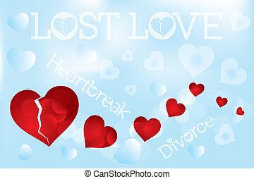 Heartbreak illustration, lost love