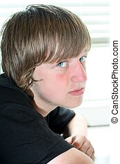 Heartbreaking Teen Boy