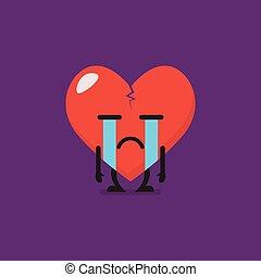 Heartbroken characters emoji