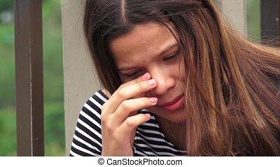 Heartbroken Or Hopeless Teen Girl