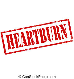 Heartburn-stamp - Grunge rubber stamp with text Heartburn, ...