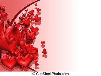 HeartDrop02 - Cascading Hearts with room for copy