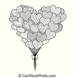 hearted balloons