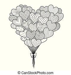 hearted, globos