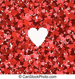 the collection of red hearts