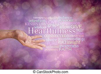 heartfulness, 概念, 雲, タグ, 単語