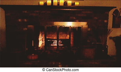 hearth scene in autumn