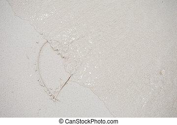 hearts, вничью, на, , песок, of, , пляж