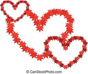 hearts., 符号, 纠缠, 三, 爱