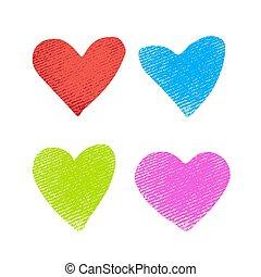 hearts-01, textuur