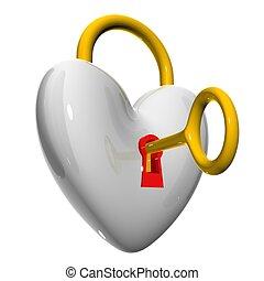"hearts - 3d heart illustration ""love"""