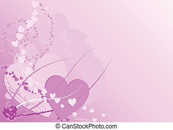 Hearts - A lot of hearts on the love pink background.