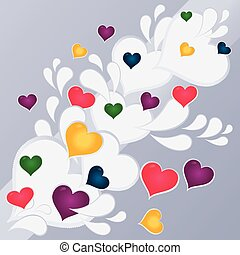 hearts abstract background