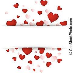 hearts., achtergrond, valentine