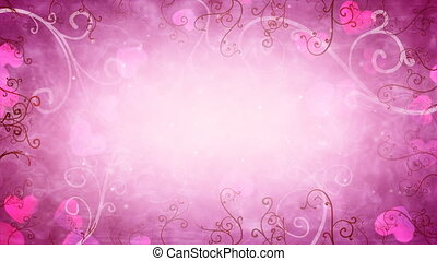 hearts and flourishes loop romantic