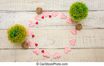 hearts and flowers , circle the concept