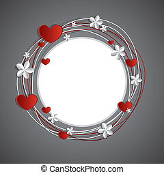 Hearts and Flowers Frame