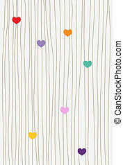 hearts and lines background