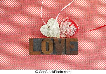 hearts and love on polka dots
