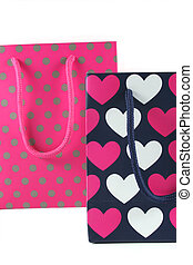 Hearts and spots gift bags