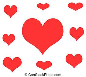 Hearts Art Illustration