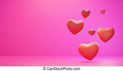 hearts background 3d-illustration