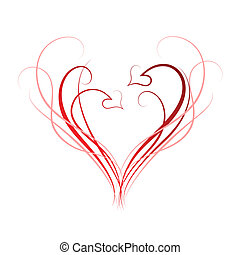 Hearts background - Abstract background of hearts and...