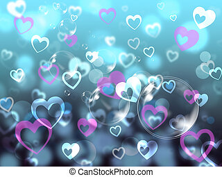 Hearts Background Means Loving Partner Family Or Friends -...