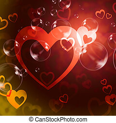 Hearts Background Means Romance Love And Passion - Hearts...