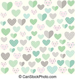 Hearts background, Valentine's day