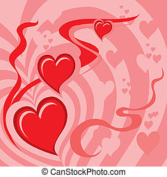 Hearts Background (vector)