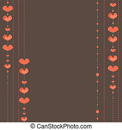 Hearts Background .  Vector illustration